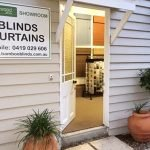 Photo of Ashwood Blinds Brisbane's showroom entrance.