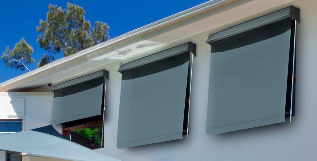 Photo of fixed guide custom made awnings