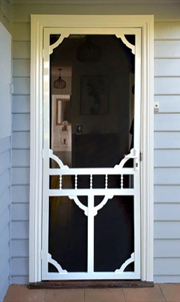 Photo of a heritage style steel security door