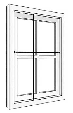 Drawing showing how to measure windows for recess fixing blinds and curtains