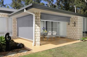 Translucent Roller Blinds fitted to an outdoor entertaining area