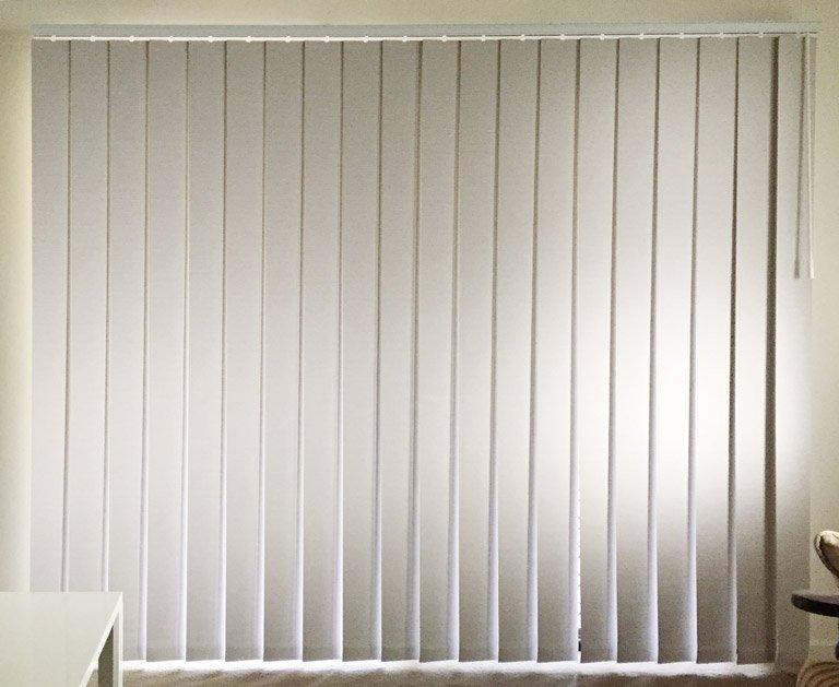 Custom Vertical blinds for a sliding glass door