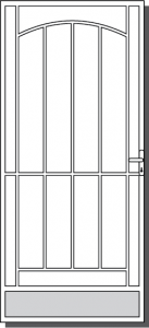 Avoca Custom Steel Security Door Design