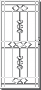 Bright Steel Security Door Design