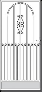 Cobram Custom Steel Security Door Design