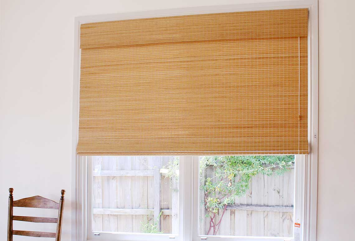 Raw bamboo blind
