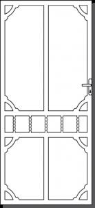 Daylesford 3 Custom Steel Security Door