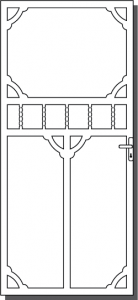 Daylesford 4 Custom Steel Security Door