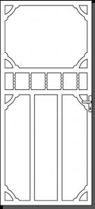 Daylesford 5 Custom Steel Security Door