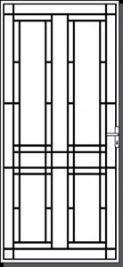 Emerald Steel Custom Security Door Design