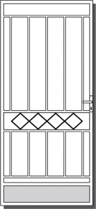 Euroa Steel Security Door Design