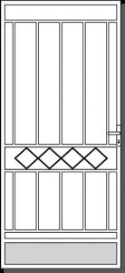 Euroa Steel Custom Security Door Design