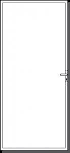 Custom made Custom steel security door