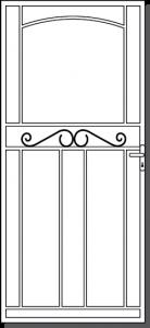 Sorrento Custom Steel Security Door