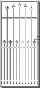 Torquay Steel Security Door Design