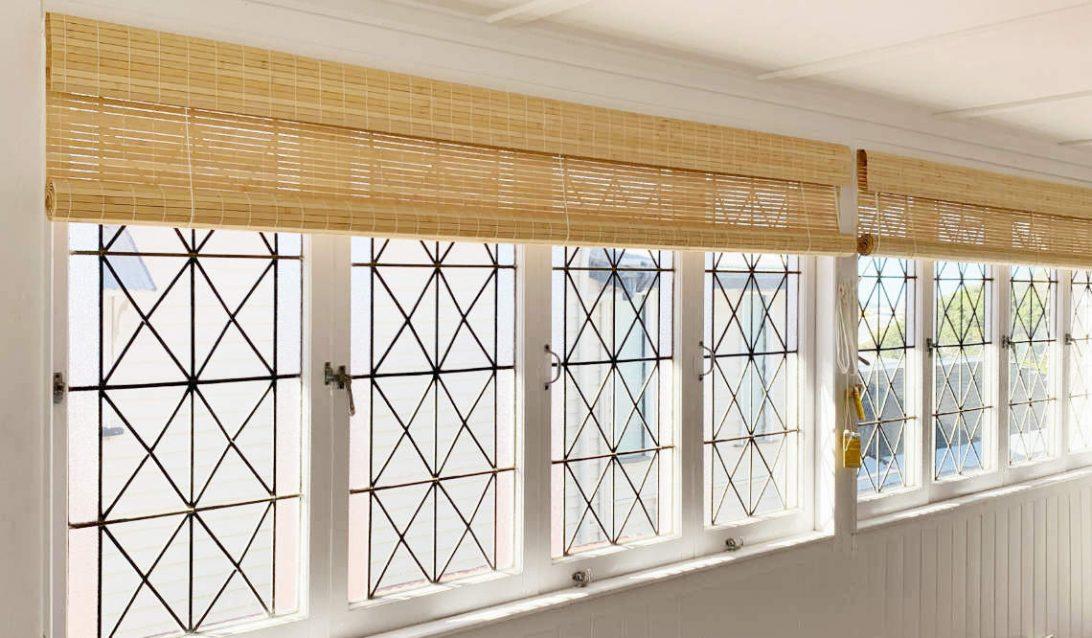 Custom Raw Bamboo Roll up blinds