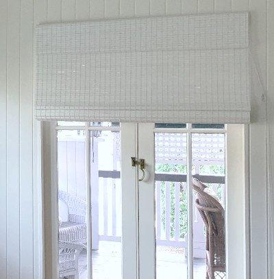 White Roman Woven Bamboo Blind