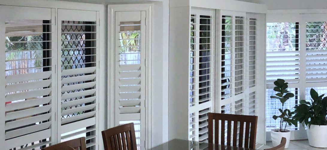 Custom made plantation shutters