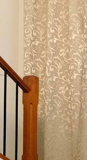 Embossed Satin Curtain Fabric