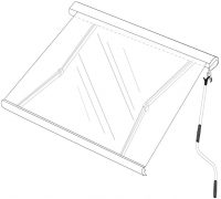 Folding Arm Awning drawing
