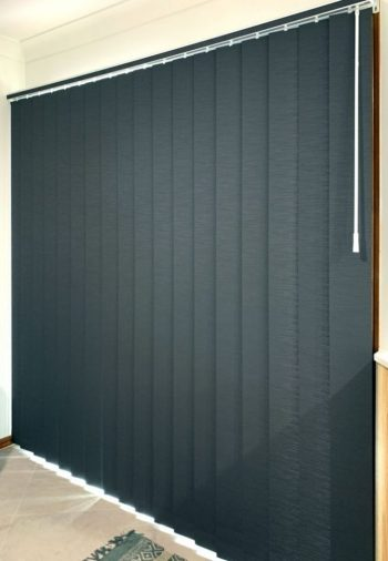 Vertical Blind fitted to sliding glass door